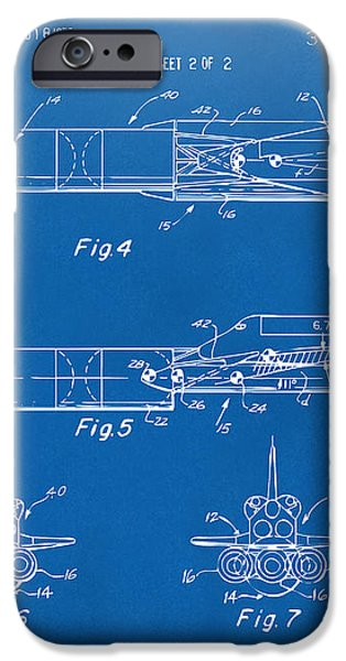 1975 Space Vehicle Patent - Blueprint iPhone Case by Nikki Marie Smith