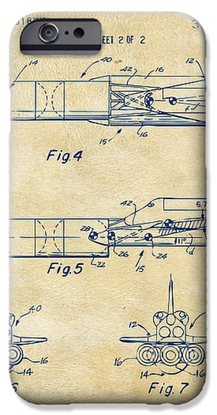 1975 Space Vehicle Patent - Vintage iPhone Case by Nikki Marie Smith