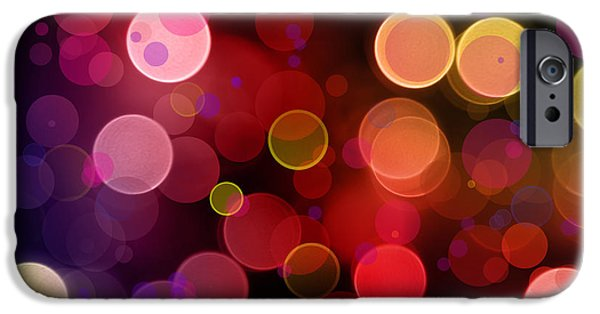 Circle Digital iPhone Cases - Abstract background iPhone Case by Les Cunliffe