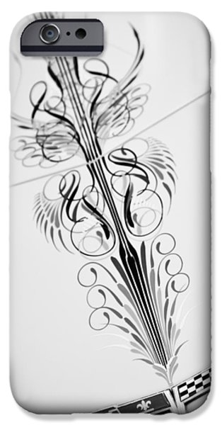 1980 iPhone Cases - 1980 Chevrolet Corvette Emblem -0030bw iPhone Case by Jill Reger