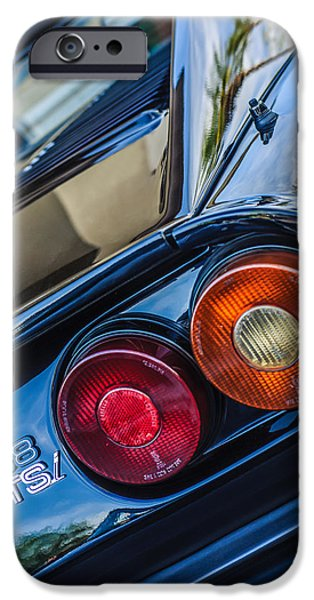 1980 iPhone Cases - 1980 Ferrari 308 GTSi Taillight Emblem -0036c iPhone Case by Jill Reger