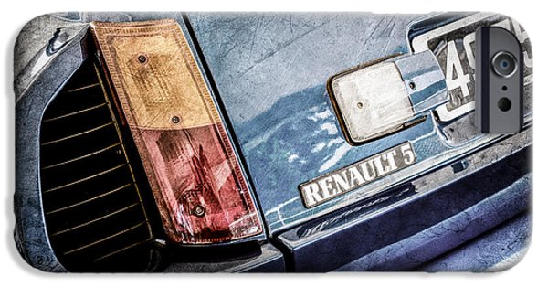 1980 iPhone Cases - 1980 Renault Series 1 R5 Turbo Taillight Emblem -0082ac iPhone Case by Jill Reger