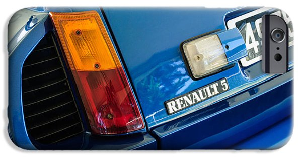1980 iPhone Cases - 1980 Renault Series 1 R5 Turbo Taillight Emblem -0082c iPhone Case by Jill Reger