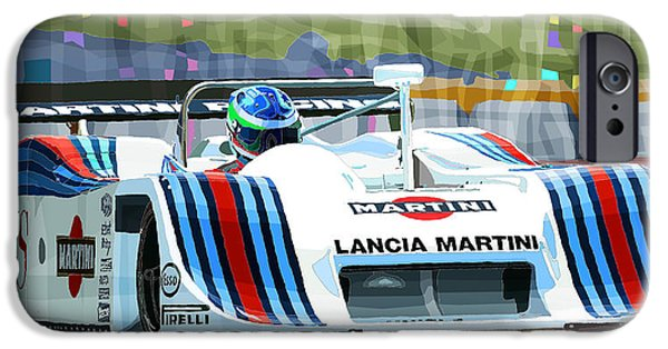 Racing iPhone Cases - 1982 Lancia LC1 Martini iPhone Case by Yuriy  Shevchuk