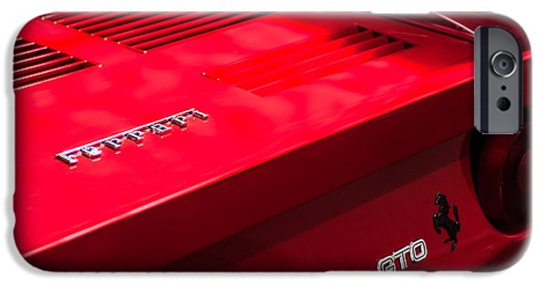 Ferrari Gto iPhone Cases - 1985 Ferrari 288 GTO Taillight Emblem iPhone Case by Jill Reger