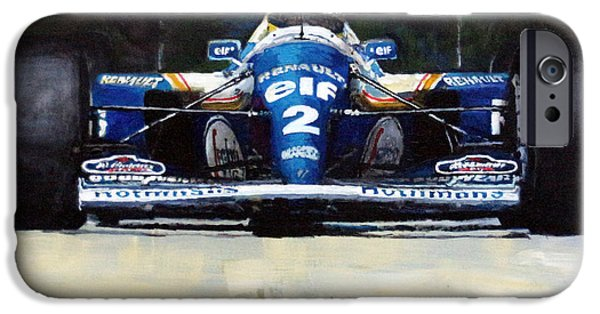 Racing iPhone Cases - 1994 Ayrton Senna Williams Renault FW16 iPhone Case by Yuriy Shevchuk