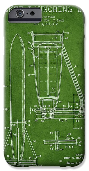 Rockets iPhone Cases -  Rocket Launching Unit Patent from 1961 iPhone Case by Aged Pixel