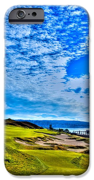 David iPhone Cases - #16 at Chambers Bay Golf Course - Location of the 2015 U.S. Open Championship iPhone Case by David Patterson