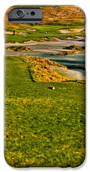 #18 at Chambers Bay Golf Course - Location of the 2015 U.S. Open Tournament iPhone Case by David Patterson