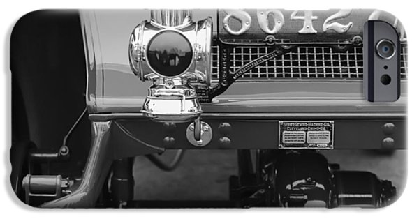 Beach Model iPhone Cases - 1906 White Model F Roi des Belges Touring Rear Lamp iPhone Case by Jill Reger