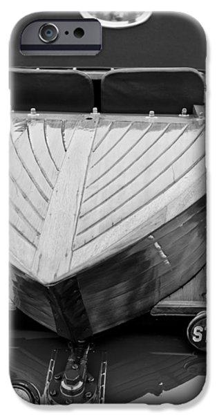 Skiff iPhone Cases - 1914 Rolls-Royce Silver Ghost Shapiro-Schebera Skiff Rear End iPhone Case by Jill Reger
