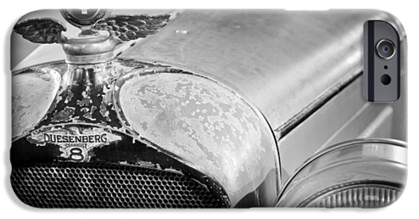 Motometer iPhone Cases - 1926 Duesenberg Model A Boyce Motometer - Hood Ornament iPhone Case by Jill Reger