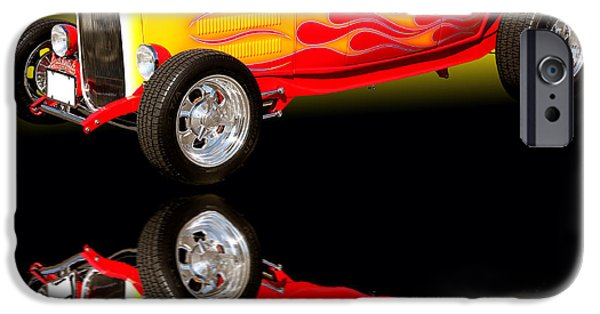 Cards Vintage iPhone Cases - 1932 Ford V8 Hotrod iPhone Case by Jim Carrell
