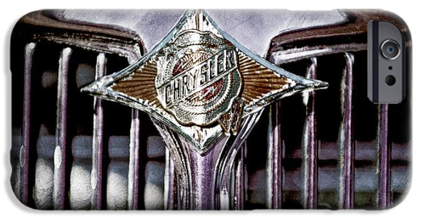 1933 iPhone Cases - 1933 Chrysler Sedan Grille Emblem iPhone Case by Jill Reger