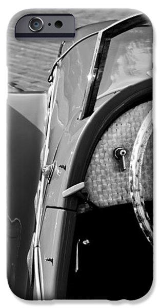 1937 Peugeot 402 Darl'Mat Legere Speacial Sport Roadster Recreation Steering Wheel Emblem iPhone Case by Jill Reger