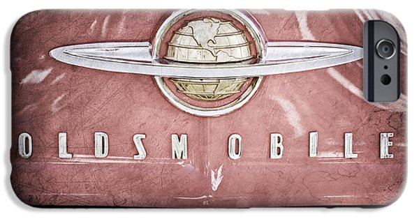 1950 iPhone Cases - 1950 Oldsmobile 88 Hood Emblem iPhone Case by Jill Reger