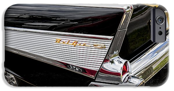 V8 iPhone Cases - 1957 Chevrolet Bel Air iPhone Case by Rich Franco