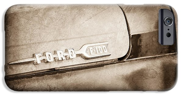 Ford Truck iPhone Cases - 1959 Ford F-100 Emblem iPhone Case by Jill Reger