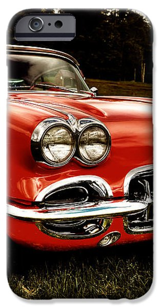 1960 Chevy Corvette iPhone Case by David Patterson