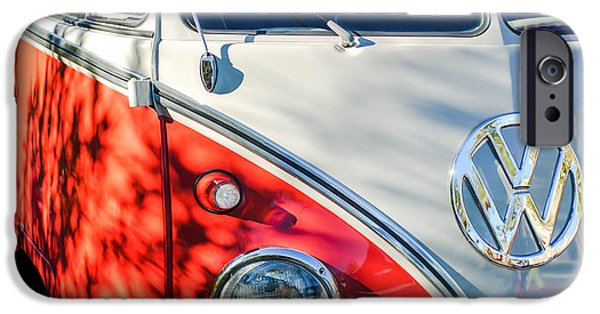 23 iPhone Cases - 96 Inch Panoramic - 1961 Volkswagen VW 23-Window DeLuxe Station Wagon Emblem iPhone Case by Jill Reger