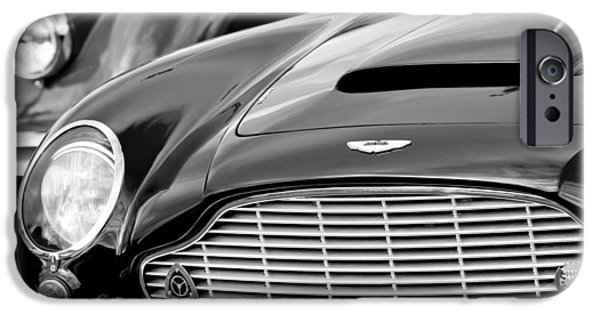 Vintage Car iPhone Cases - 1965 Aston Martin DB6 Short Chassis Volante iPhone Case by Jill Reger