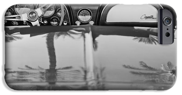 Sting Ray iPhone Cases - 1965 Chevrolet Corvette Sting Ray iPhone Case by Jill Reger