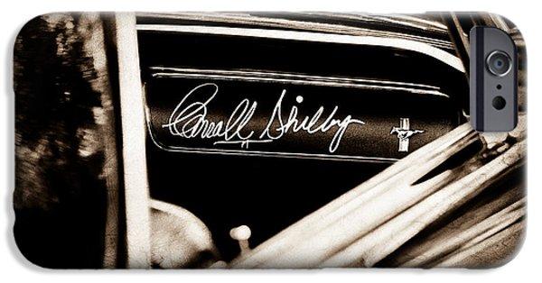 Carroll Shelby iPhone Cases - 1965 Shelby Prototype Ford Mustang Carroll Shelby Signature iPhone Case by Jill Reger