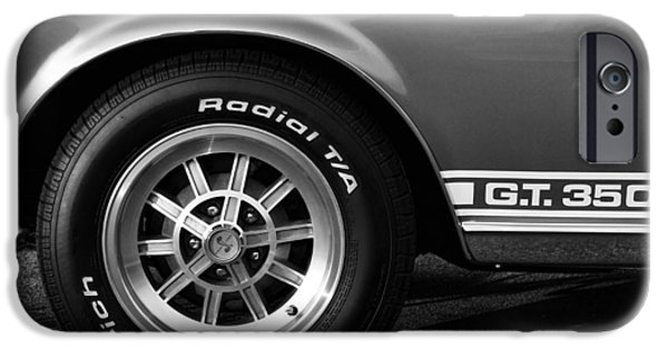 Autographed Digital Art iPhone Cases - 1968 G.T. 350 Shelby Cobra Ford Mustang iPhone Case by Gordon Dean II