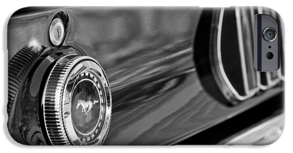 1969 iPhone Cases - 1969 Ford Mustang Taillights iPhone Case by Jill Reger
