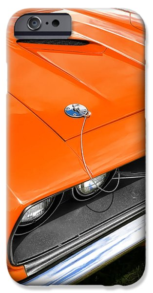 Bad Ass iPhone Cases - 1971 Plymouth Cuda 340 iPhone Case by Gordon Dean II