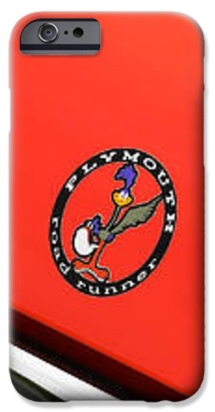 Automotive iPhone Cases - 1971 Plymouth Road Runner iPhone Case by Gordon Dean II