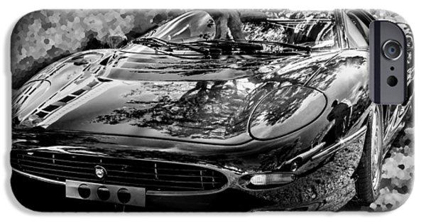Lightweight iPhone Cases - 1993 Jaguar XJ 220 Super Car BW iPhone Case by Rich Franco