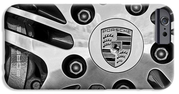 Turbo iPhone Cases - 2008 Porsche Turbo Cabriolet Wheel Rim iPhone Case by Jill Reger