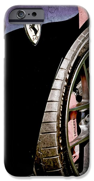 Ferrari Gto iPhone Cases - 2011 Ferrari 599 GTO Emblem - Wheel iPhone Case by Jill Reger