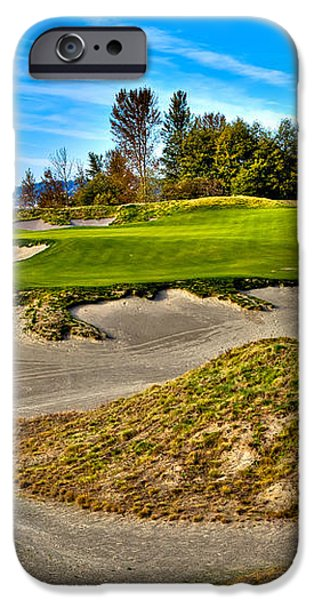 #3 at Chambers Bay Golf Course - Location of the 2015 U.S. Open Championship iPhone Case by David Patterson
