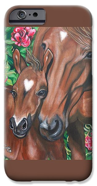 The Horse iPhone Cases - 357  Rosebud the Colt iPhone Case by Sigrid Tune