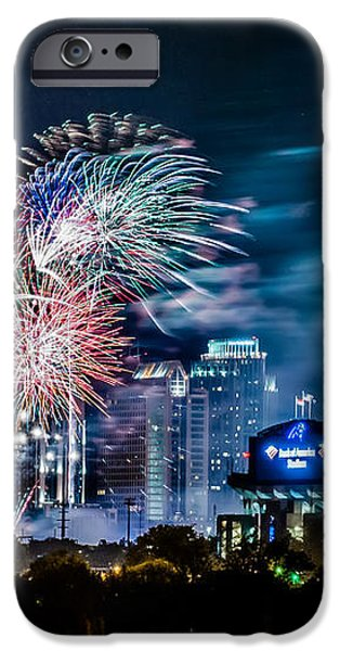 4th of july firework over charlotte skyline iPhone Case by Alexandr Grichenko