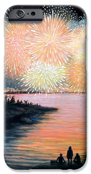 4th of July Gloucester Harbor iPhone Case by Eileen Patten Oliver