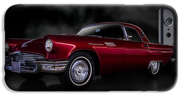 Cars iPhone Cases - 57 T-Bird iPhone Case by Douglas Pittman