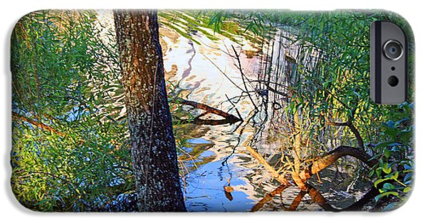Cora Wandel iPhone Cases - A Colorful Creek iPhone Case by Cora Wandel