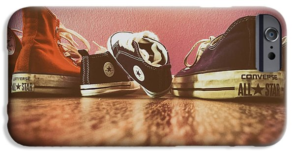 Tennis Shoes iPhone Cases - A Converse Family iPhone Case by Mountain Dreams