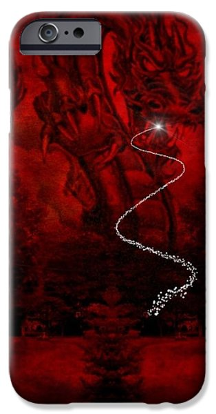 Serpent iPhone Cases - A Dragons Hiss II iPhone Case by Majula Warmoth