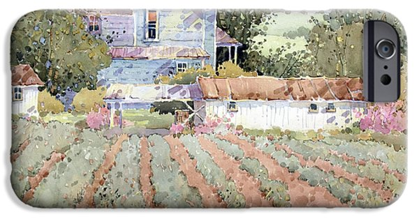 Garden Shed iPhone Cases - A Farmhouse I Saw in Virginia iPhone Case by Joyce Hicks