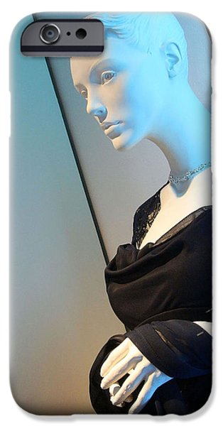 Cora Wandel iPhone Cases - A Mannequins Blues iPhone Case by Cora Wandel