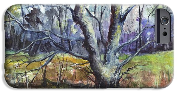 Concept Art iPhone Cases - A Tree For Thee iPhone Case by Carol Wisniewski