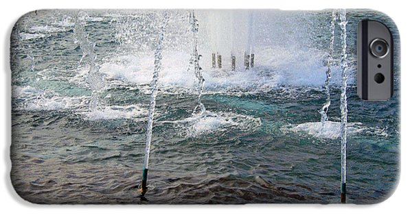 Cora Wandel iPhone Cases - A World War Fountain iPhone Case by Cora Wandel