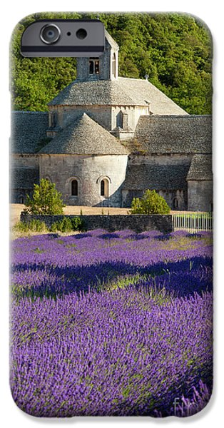 Historic Site iPhone Cases - Abbaye de Senanque iPhone Case by Brian Jannsen
