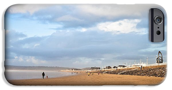 Jogging iPhone Cases - Aberafan Beach iPhone Case by Tom Gowanlock