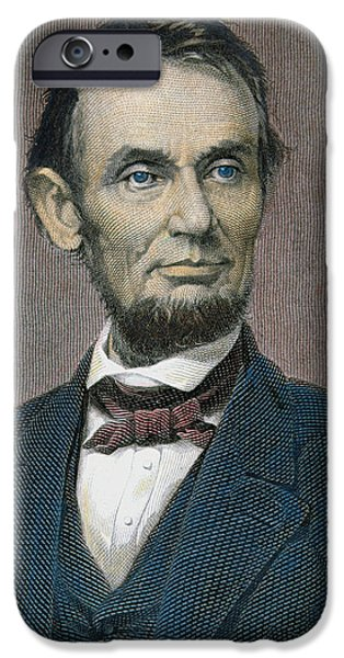 Politician iPhone Cases - Abraham Lincoln iPhone Case by American School