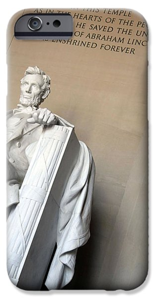 Cora Wandel iPhone Cases - Abraham Lincoln - In This Temple iPhone Case by Cora Wandel
